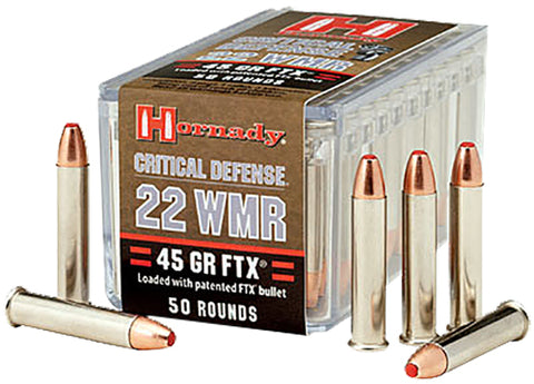 Hornady 83200 Critical Defense Flex Tip Expanding 22Win Mag 45GR 50 Box/40 Case