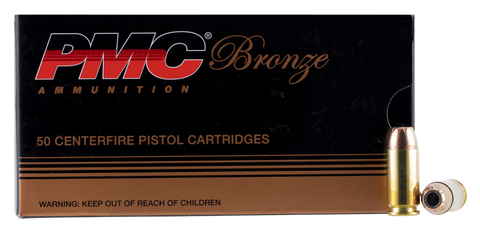 PMC 40B Bronze 40 Smith & Wesson 165 GR Jacketed Hollow Point 50 Bx/ 20 Cs