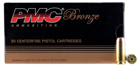 PMC 40E Bronze 40 Smith & Wesson 180 GR Full Metal Jacket Flat Point 50 Bx/ 20 Cs