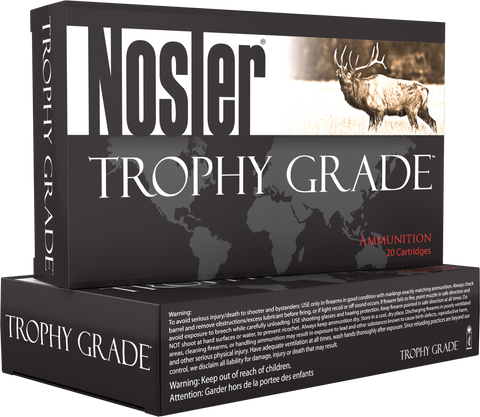 Nosler 60043 Trophy 280 Ackley Improved 140 GR AccuBond 20 Bx/10 Cs Brass
