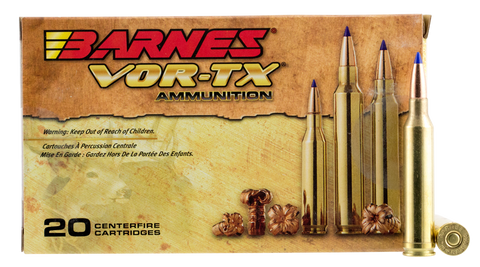 Barnes 21563 VOR-TX 7mm Remington Mag 150GR Tipped TSX Boat Tail 20Box/10Case