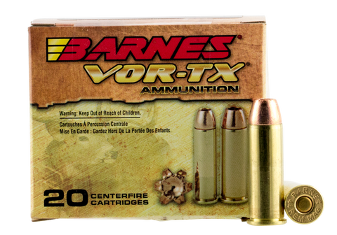 Barnes 21545 VOR-TX Handgun Hunting 44 Remington Magnum XPB 225 GR 20Box/10Case