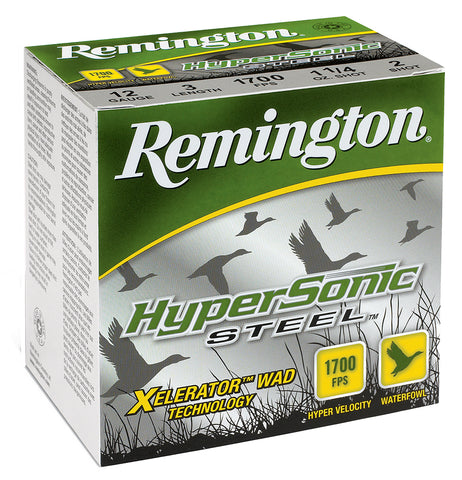 "Remington Ammunition HSS102 HyperSonic  10 Gauge 3.5"" 1 1/2 oz 2 Shot 25 Bx/ 10 Cs"