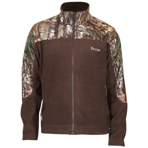 Rocky Mens Fleece Jacket Realtree Xtra/ Brown Medium