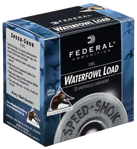 "Federal WF1072 Speed-Shok Waterfowl 10 ga 3.5"" 1-1/2oz 2 Shot 25Bx/10Cs - 250 Rounds"