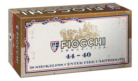 Fiocchi 4440CA Cowboy 44-40 Winchester 210 GR Lead Round Nose Flat Point 50 Bx/ 10 Cs