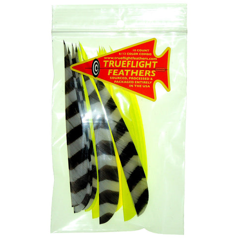 Trueflight Feather Combo Pack Barred/Chartreuse 5in. LW Shield Cut