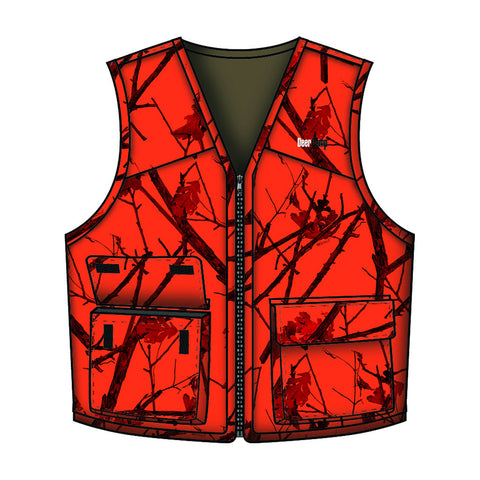 Gamehide Deer Camp Vest Woodlot Blaze 4X-Large
