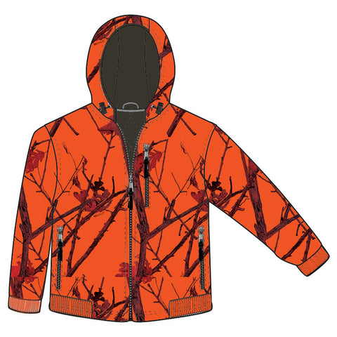 Gamehide Deer Camp Youth Jacket Woodlot Blaze Large
