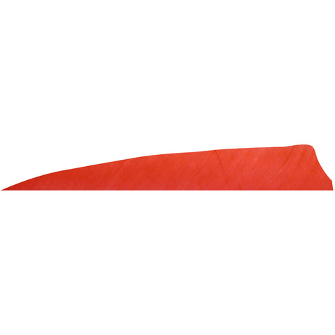 Gateway Shield Cut Feathers Red 4 in. RW 100 Pk.