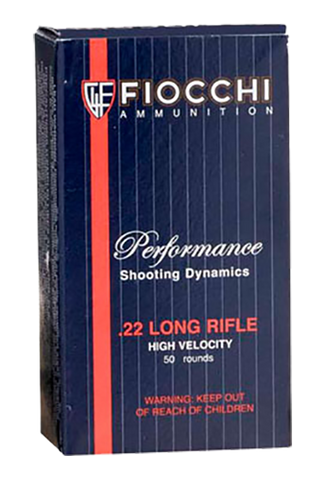 Fiocchi 22FHVCHP Shooting Dynamics 22 LR 38 GR Copper-Plated Hollow Point 50 Bx/ 100 Cs