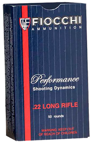 Fiocchi Ammunition Rimfire, 22LR, 40 Grain, Hollow Point, Subsonic, 50 Round Box 22FHPSUB