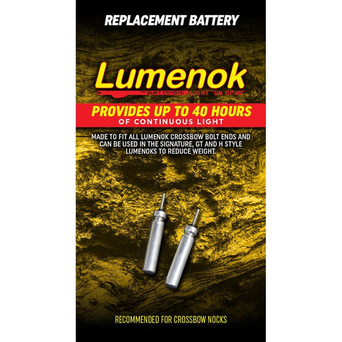 Lumenok Replacment Batteries For Bolt Ends 2 pk.