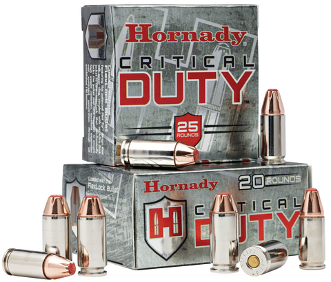 Hornady 90236 Critical Duty 9mm Luger 135 GR FlexLock 25 Bx/ 10 Cs