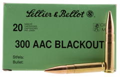 Sellier & Bellot 300BLKSUBA Rifle 300 AAC Blackout 200 GR Full Metal Jacket Subsonic 20 Bx/ 50 Cs