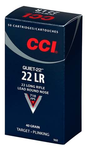 CCI 960 Quiet-22 22 LR 40GR LRN 50 Box/100 Case