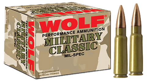 Wolf MC308FMJ168 Military Classic 308 Winchester/7.62 NATO FMJ 168 GR 500 Rds