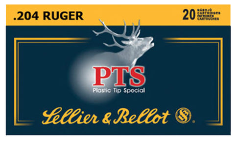 Sellier & Bellot SB204A Plastic Tip Special 204 Ruger PTS 32 GR 20Box/50Case