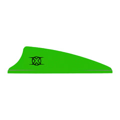 Bohning Shield Cut X Vanes Neon Green 1.75 in. 100 pk.