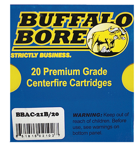 Buffalo Bore Ammunition 21B/20 10mm Automatic 180 GR JHP 20 Bx/ 12 Cs