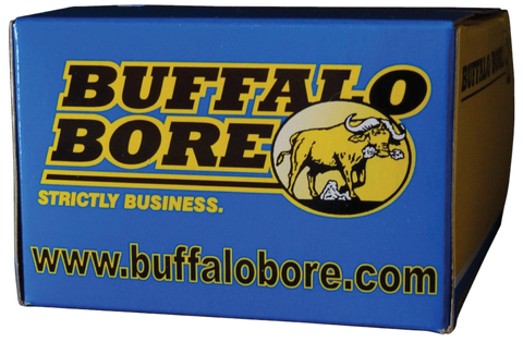 Buffalo Bore Ammunition 21C/20 Outdoorsman 10mm Automatic 220 GR Hard Cast Flat Nose 20 Bx/ 12 Cs