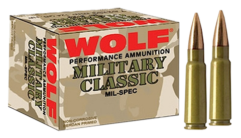 Wolf MC308SP168 Military Classic 308 Winchester/7.62 NATO Soft Point 168 GR 500 Rds
