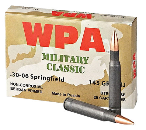 Wolf MC3006FMJ145 Military Classic 30-06 Springfield FMJ 145 GR 500 Rds