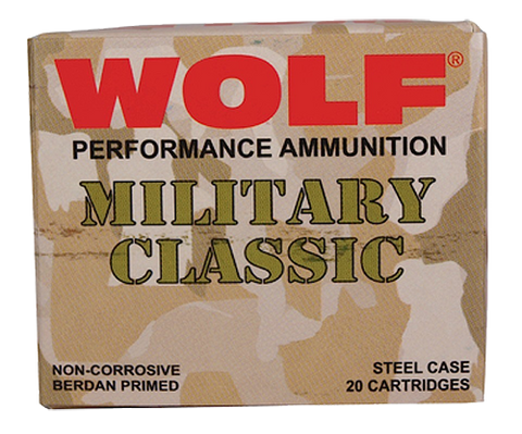 Wolf MC3006SP140 Military Classic 30-06 Springfield Soft Point 140 GR 500 Rds - 500 Rounds