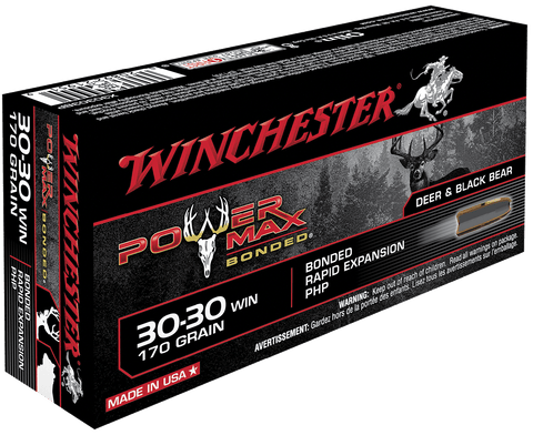 Winchester Ammo X30303BP Super-X 30-30 Winchester 170 GR Power Max Bonded 20 Bx/ 10 Cs
