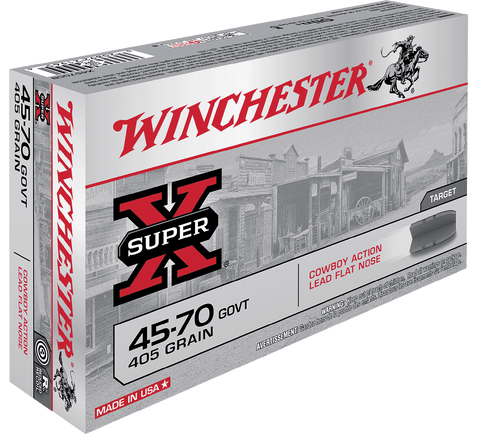 Winchester Ammo X4570CB Super-X 45-70 Government 405 GR Lead Flat Nose 20 Bx/10 Cs