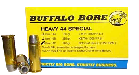 Buffalo Bore 14C/20 Handgun 44 Special Soft Cast Hollow Point 190 GR 20Box/12Cas
