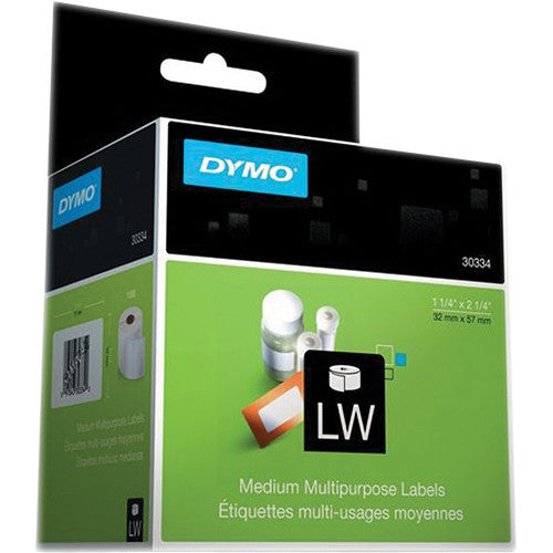 "Dymo LABEL, DYMO WHITE 2-1/4"" x 1-1/4"" 1000 PER BOX"
