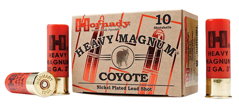 "Hornady 86222 Heavyweight Coyote 12ga BB Nickel 10Bx/25Cs 3"" 1-1/2 oz"