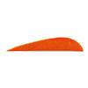 Trueflight Parabolic Feathers Orange 3 in. LW 100 pk.