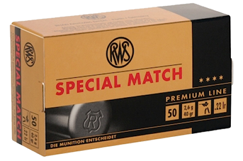 RWS 2134233 22LR Special Lead Round Nose 40 GR 50 Rounds Per Box