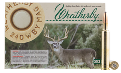 Weatherby G240100SR Norma 240 Weatherby Magnum 100 GR Spitzer 20 Bx/ 10 Cs