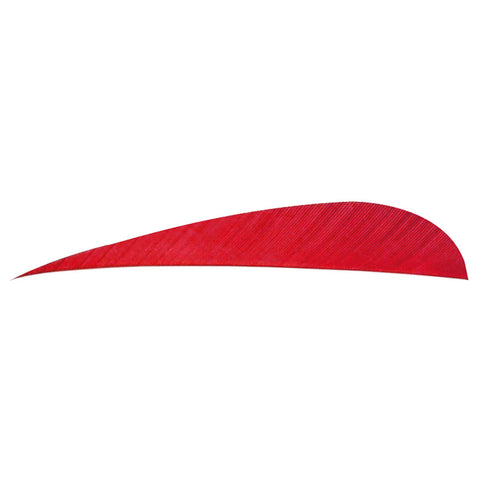 Trueflight Parabolic Feathers Red 5 in. LW 100 pk.
