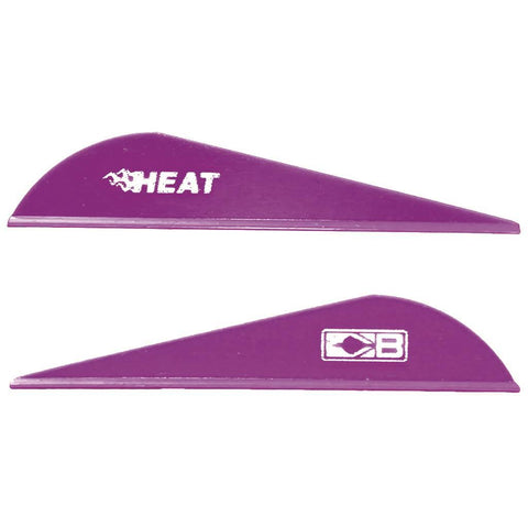 Bohning Heat Vanes Purple 36 pk.