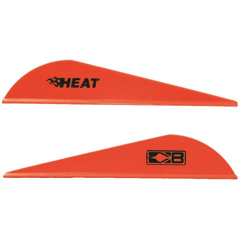 Bohning Heat Vanes Neon Red 36 pk.