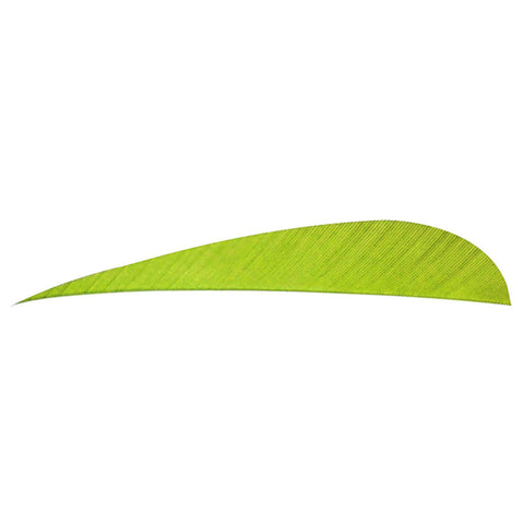 Trueflight Parabolic Feathers Chartreuse 5 in. LW 100 pk.
