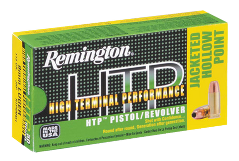 Rem Ammo RTP357M10 HTP 357Mag 180GR Semi Jacketed Hollow Point 50Bx/10Cs