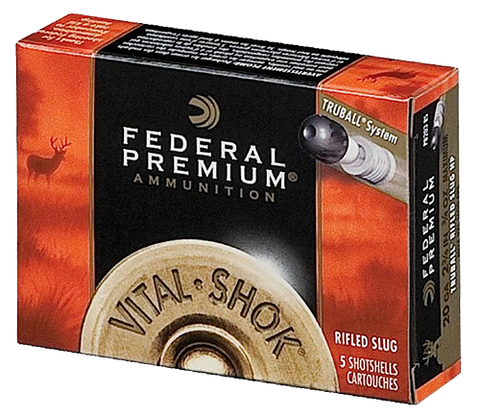 "Federal PB209RS Vital-Shok 20 Gauge 3"" 3/4 oz Slug Shot 5 Bx/ 50 Cs"