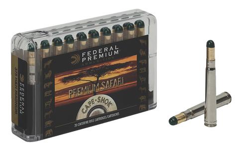 Federal P9362WH Cape-Shok 9.3mmX62 Mauser Woodleigh Hydro Solid 286GR 20Bx/10Cs
