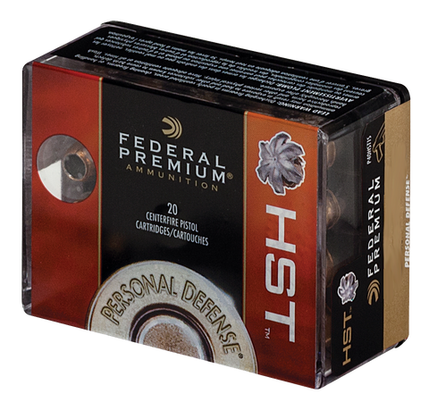 Federal P9HST1S Premium Personal Defense 9mm Luger 124GR HST 20 Box/10 Boxes per Case