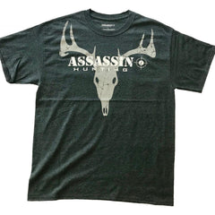 Assassin T-Shirt Deer Skull Charcoal Large