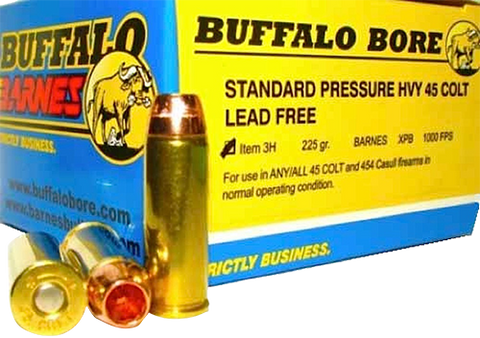 Buffalo Bore Ammunition 3H/20 45 Colt Lead-Free Barnes XPB 225GR 20Box/12Case