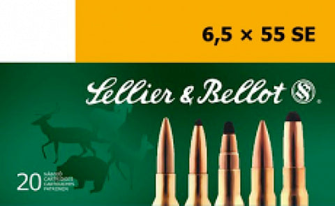 Sellier & Bellot SB6555C Rifle Training 6.5X55mm Swedish 140 GR FMJ 20 Bx/ 20 Cs