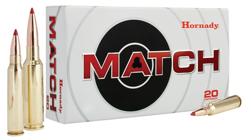 Hornady 8097 Match 308 Winchester/7.62 NATO 168 GR Boat Tail Hollow Point Match 20 Bx/ 10 Cs