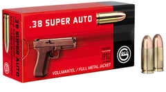 271140050 Pistol Geco  38 Super 124 GR Full Metal Jacket 50 Bx/ 20 Cs