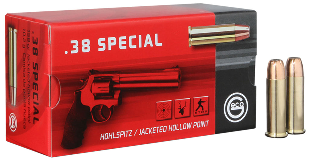 271740050 JHP Geco 38 Special 158 GR Jacketed Hollow Point 50 Bx/ 20 Cs